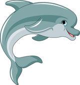 Jumping Dolphin — Stock Vector