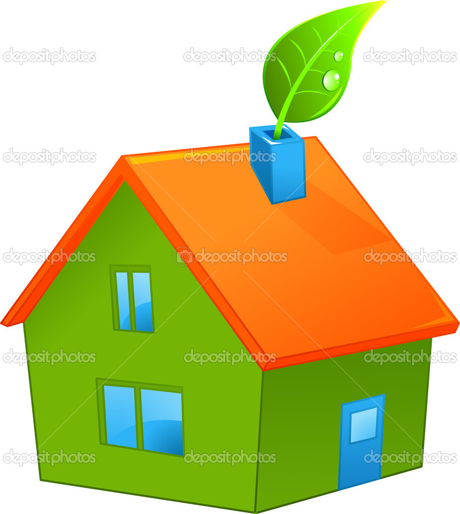 Illustration of organic green house — Stock Vector #5921532