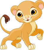 Brave Lion Cub — Stock Vector