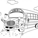 School Bus coloring page — Stock Vector