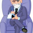 Dr. Freud psychotherapist - Stock Vector