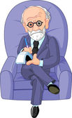 Dr. Freud psychotherapist — Stock Vector