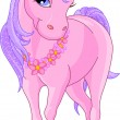 Beautiful Pink Unicorn — Stock Vector #6206340