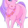 Stock Vector: Beautiful Pink Unicorn