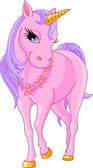 Beautiful Pink Unicorn — Stock Vector