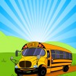 School Bus background — Stock Vector