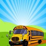 School Bus background — Stock Vector