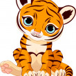 Cute tiger cub — Stock Vector #6278832