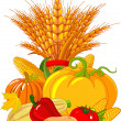 Royalty-Free Stock Imagen vectorial: Thanksgiving harvest design