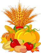 Thanksgiving harvest design — Stock Vector