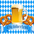 Oktoberfest Celebration Background — Vector de stock