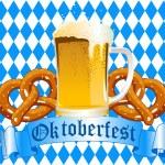 Oktoberfest-Feier-Hintergrund — Stockvektor