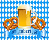 Oktoberfest Celebration Background — Stok Vektör