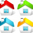 Colored house icons - Stock Vector