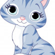 Cute kitten — Vector de stock #6547240