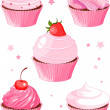 Various cupcake — Stock Vector #6553302