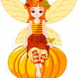 Royalty-Free Stock Vector Image: Autumn fairy girl