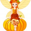 Autumn fairy girl — Stock Vector #6658208
