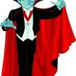 Cartoon Count Dracula - Stock Vector