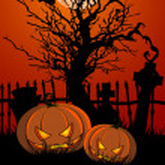 HalloweenTombstone and Pumpkins — Stock Vector
