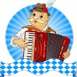 Oktoberfest Accordion Player - Stock Vector