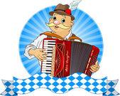 Oktoberfest Accordion Player — Stock Vector