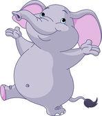Cute dancing elephant — Stock Vector