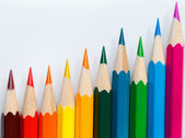 Row of the miscellaneous color. — Stock Photo