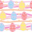 Seamless background from Easter eggs - Stock Vector