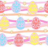 Seamless background from Easter eggs — Stock Vector