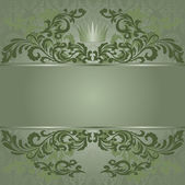Green vintage background — Stock Vector