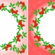 Rowanberry Wreaths — Stock Vector