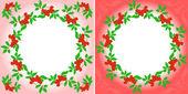 Rowanberry Wreaths — Stock Vector