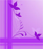Purple floral design — Stock Vector