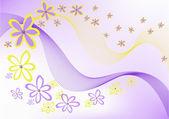 Fleurs sur fond violet — Vecteur