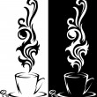 Two cups of coffee - Stock Vector