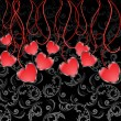 Garland of Hearts — Vector de stock