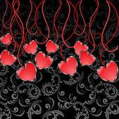 Garland of Hearts — Stock Vector
