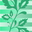 The plant on the striped background - Stock Vector