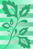 The plant on the striped background — Stock Vector