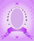 Lilac vintage frame — Stock Vector
