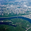 View from above on city Kyiv - Stock Photo