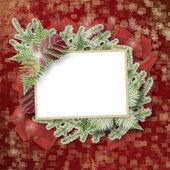 抽象星光背景与纸架和堆树枝 chr — 图库照片