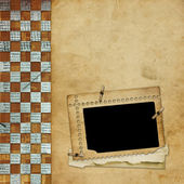 Alienated frame for photo on the abstract background — Stock Photo