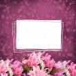 Stock Photo: Grunge paper for invitation or congratulations with a bouquet of