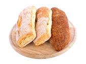 Pan de centeno y harina de trigo de un pulido áspero — Foto de Stock