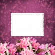 Grunge paper for invitation or congratulations with a bouquet of — Stock Photo #5553093
