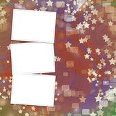 五彩缤纷的问候或邀请与帧的背景 — 图库照片