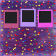 Old grunge slides on the cheerful multicolored background — 图库照片