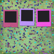 Old grunge slides on the cheerful multicolored background — Foto Stock